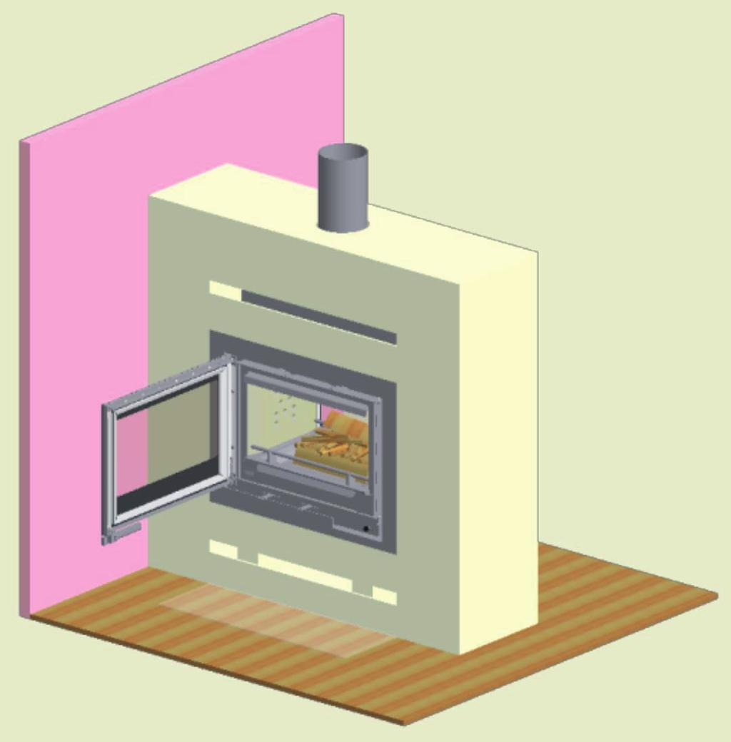 14 INSTRUCTIONS FOR HEATING Environmentally-Friendly Heating Avoid restricting your wood-burning stove to an extent where no flames are visible during the degasifying period, as this leads to