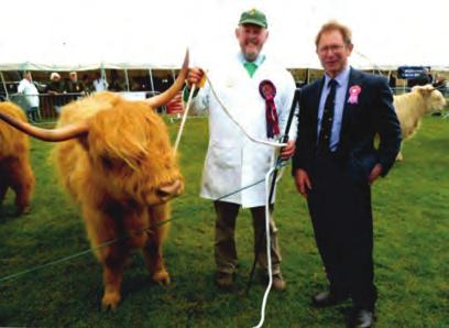 The show report is available in the National Shows section of this Journal however we also staged a Comb the Highland Calf at the show and raised 153.80 for the Yorkshire Air Ambulance.