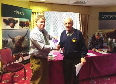 Peter Edwards with Nero of Knockendon Don Johnson Cup for Pairs went to Mrs. L.