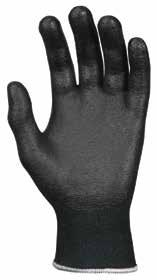 Gloves Features a 10-gauge black HPPE and steel shell with black nitrile foam coating on palm and fingers.