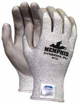 breathability and comfort. Features dots on palm for enhanced grip. Ambidextrous. ANSI Level 3/EN388 Level 3 cut resistance; CPPT = 1,150 grams.