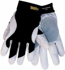 Features reinforced thumb, nylon spandex back, hook-and-loop closure and longer elastic cuff for added protection. 6 Pk/Cs.