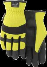 Hand Protection Category White gle Mechanics Gloves Mechanics-style premium white grain goatskin palm with black stretch knit back, pre-curved finger,