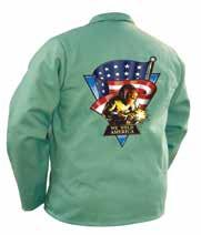 Category Welding & FR Safety Apparel We Weld America Jacket Made from flame-retardant, 9 oz., 100% cotton Westex FR7A with We Weld America color screen print on back. Cool, comfortable and washable.