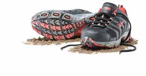 Footwear Category Mack Venus Lightweight lace-up safety shoes with padded collar and tongue.