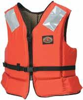 Includes Aquafoam flotation foam, roomy armholes, marine mesh inner lining and fiberglass front for marine welding. Universal. Minimum 15 1/2 lb. buoyancy.