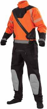 Designed for rescue operations in extreme cold water and ice conditions. Not USCG approved. International orange.