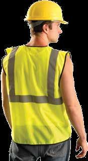 "Surveyors Mesh Vests Lightweight, 100% polyester mesh with 2"" silver reflective tape stripes, (1) 360 horizontal and (2)"