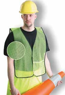 "Category Hi-Viz Apparel ECO-ATRNSM-Y Value Two-Tone Surveyor Mesh Vest Made of 100% ANSI polyester mesh with 2"" silver reflective tape backed by"
