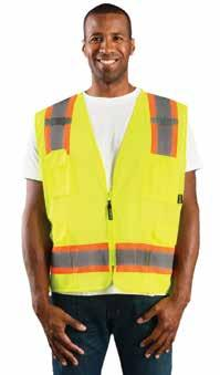 ECO-ATRNSM-YM 325328501 Two-tone surveyor mesh vest M ECO-ATRNSM-YL 325328511 Two-tone surveyor mesh vest L ECO-ATRNSM-YXL 325328521 Two-tone
