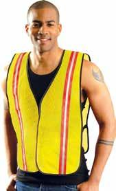 ECO-ATRNSM-Y4X 325328551 Two-tone surveyor mesh vest 4XL ECO-ATRNSM-Y5X 325328561 Two-tone surveyor mesh vest 5XL Non-ANSI Value Vest with Gloss Tape
