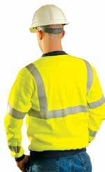 Features left chest pocket and lightweight fabric for comfort. ANSI 107-2010 Class 2 compliant. Yellow.