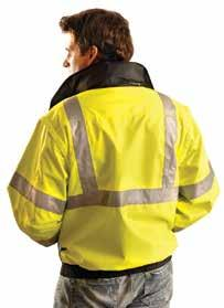 Hi-Viz Category Apparel Class 3 Premium Wicking Zip-Up Sweatshirts Made of 9.4 oz., 100% ANSI wicking polyester which keeps wearer warm and dry.