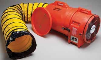 DC Axial blower is perfect when electricity is not available and may be operated off a truck battery.