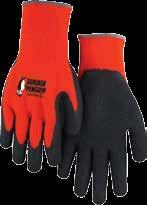 Foam Latex Palm Lightweight, cotton/poly blend hi-viz summer weight glove.