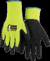 knit gloves w/ foam latex palm L 12/Pk 3397HO/11 337917115 Summer Penguin knit gloves w/ foam latex palm XL 12/Pk Hi-Viz