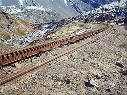 between Mendoza in Argentina across the Andes mountain range via the Uspallata Pass to Santa Rosa de Los Andes in Chile, a distance of 248 km.