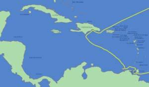 He left Hispaniola on 24 April 1494, arrived at Cuba (naming it Juana) on 30 April.