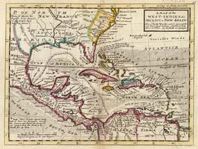 "History of Cuba http://en.wikipedia.org/wiki/history_of_cuba Map of the West Indies, Mexico and ""New Spain"" with Cuba in the center drawn by Herman Moll in 1736. independence."