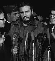 [44] Fidel Castro in Cuba, January 1959 On January 8, 1959, Castro's army rolled victoriously into Havana.