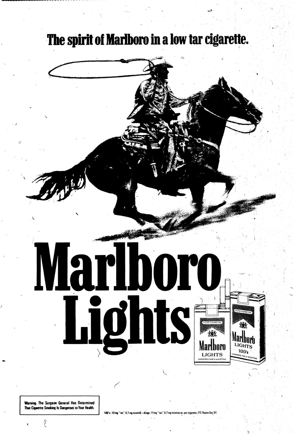 The spirit of Marlboro in a low tar cigarette V!