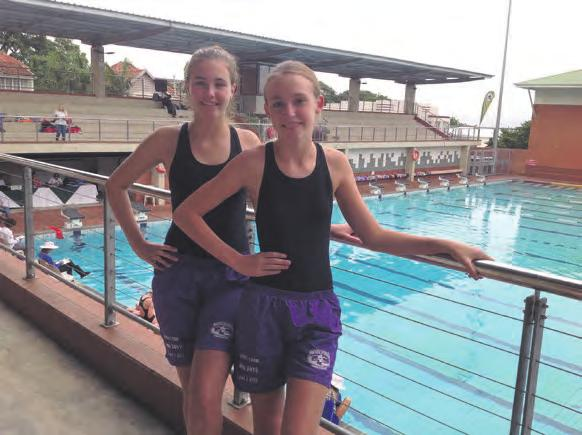- Page 39 - Page 38 Winning in perfect synchronisation Swimmers from the Bryanston-based Synchronacity Synchro Club competed at the