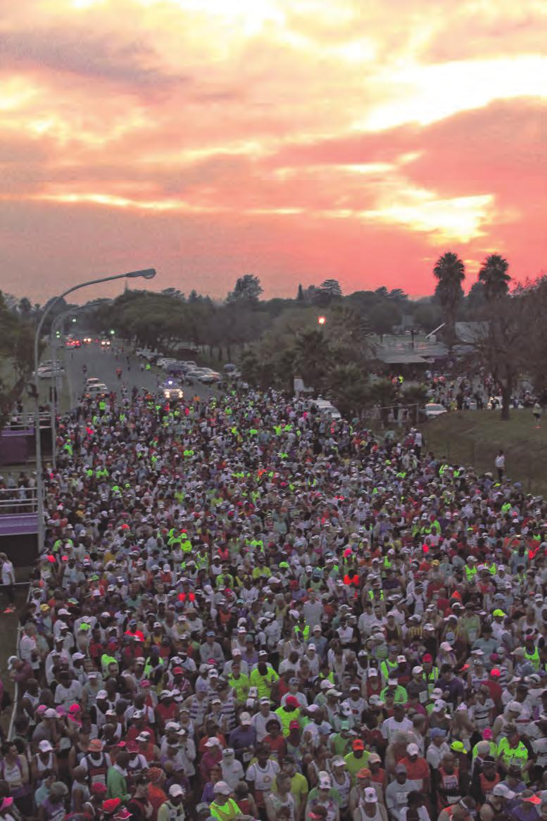 sunrise welcomed thousands of road runners and walkers to Benoni in the early hours of Sunday morning, April 23 for the freshly