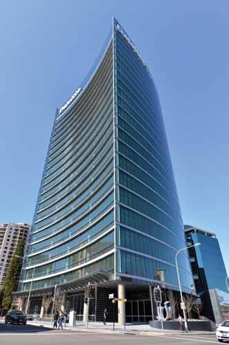 28% equivalent Mirvac K-REIT Asia The Treasury building is a proposed office development of a 35 level office building having a net lettable area of 30,219 square metres plus a ground floor foyer and