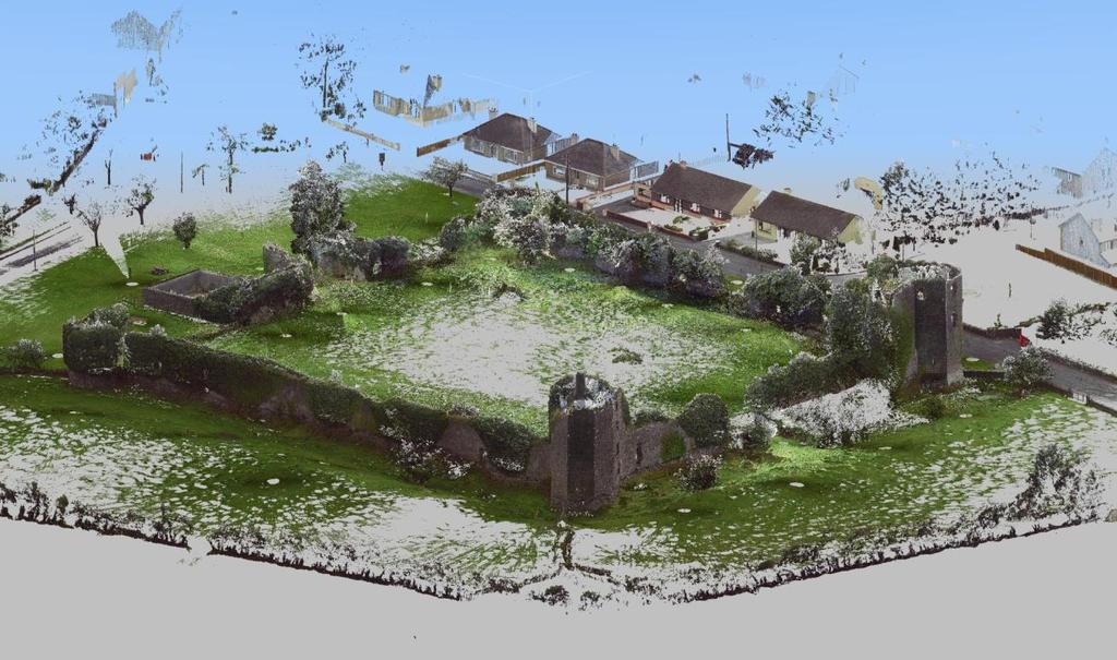 Figure 3 Iosometric view (from the Northwest) of the pointcloud data for the Ballintober Castle survey Figure 4 Isometric view (from the