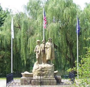 The monument was commissioned and built by Marietta residents, who were split over the conflict with soldiers and loyalties on both sides. Continue north through Muskingum Park.