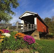 The Hills Covered Bridge, which is also known as the Hildreth Covered Bridge or Lafaber s Mill Bridge, was constructed over several years between 1871 and 1881.
