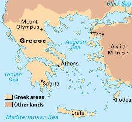 Greece is made up of land on the Balkan