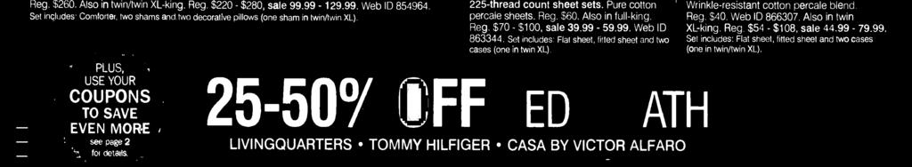LIVINGQUARTERS TOMMY HILFIGER CASA BY VICTOR ALFARO 5O% OFF Our entire