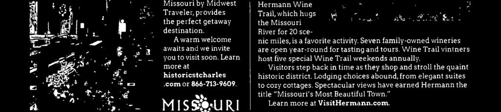 "Spectacular views have earned Hermann the title ""Missouri's Most Beautiful Town."" Learn more at VisitHermann.com. THEHermann Wine Trail fifr."