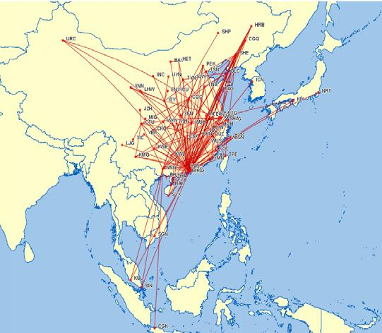Shenzhen Airlines (Cont d) Shenzhen Airlines Route Network Maximize Synergies with Expanded Business Co-operation Passenger and cargo marketing Maintenance Information Technology Ground service