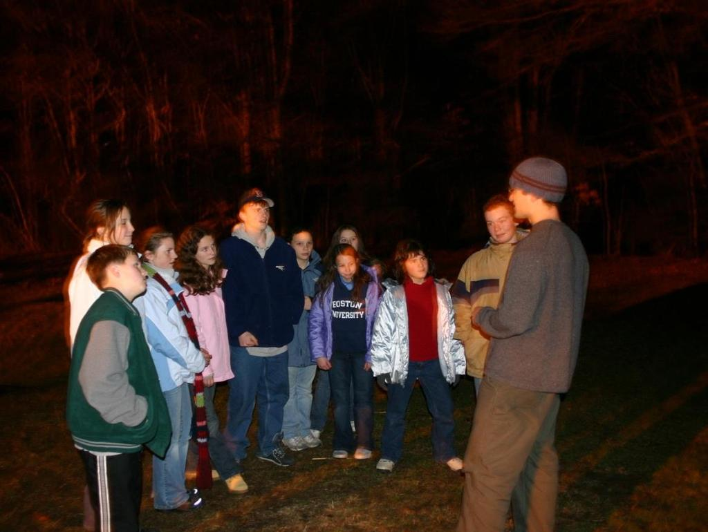 Night Hike Explore the natural world at night while learning about