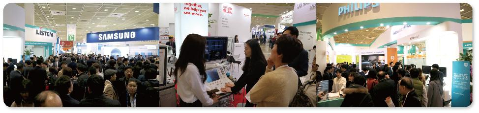 Ⅱ. Remark of KIMES 2017 1) The Latest Medical Equipment introduced by the Leading Global Names The largest trade fair which filled 38,796 sqm of exhibition presented with a wide range of products by