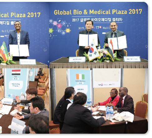 2) Held with Global Bio & Medical Plaza 2017 hosted by KOTRA widened business opportunities for exhibitors.
