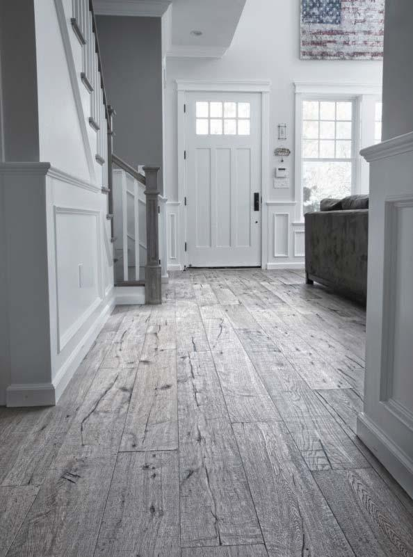 The French Collection Hand-Scraped Engineered Oak Flooring celebrates a