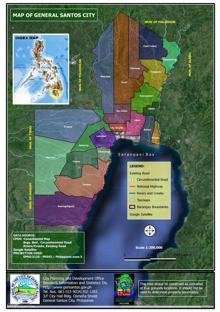 2.2 Political Subdivision The City belongs to the First Congressional District of South Cotabato and is one of the five (5) cities in the SOCCSKSARGEN Region