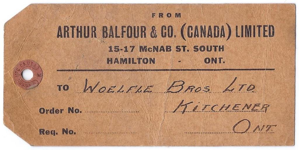 on Arthur Balfour tag (steelmakers) paying 25