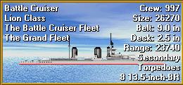 Using your right mouse button, click on the picture of the ship and hold the button down. Notice that this shows you additional information about the ship.