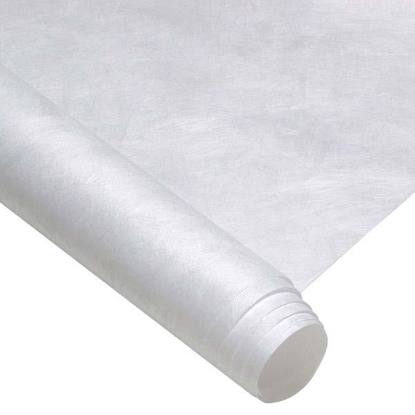 Tyvek made by DuPont, is manufactured by using heat and pressure to bond very fine continuous filaments of high density polyethylene (HDPE) together.