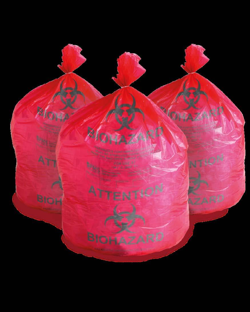 High integrity polypropylene bag withstand 141 C (285 F) maximum autoclave temperature and is designed to resist puncture, tears and leaks.