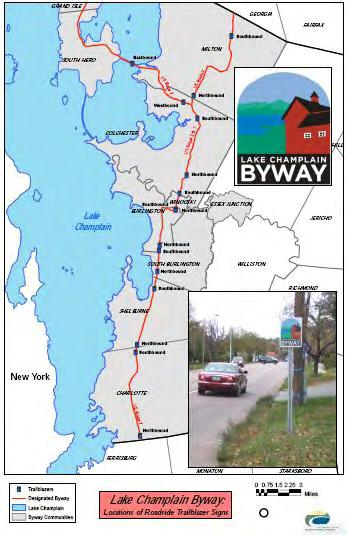 4 Figure 3. Installation locations for sixteen LC Byway Trailblazer signs, Nov.