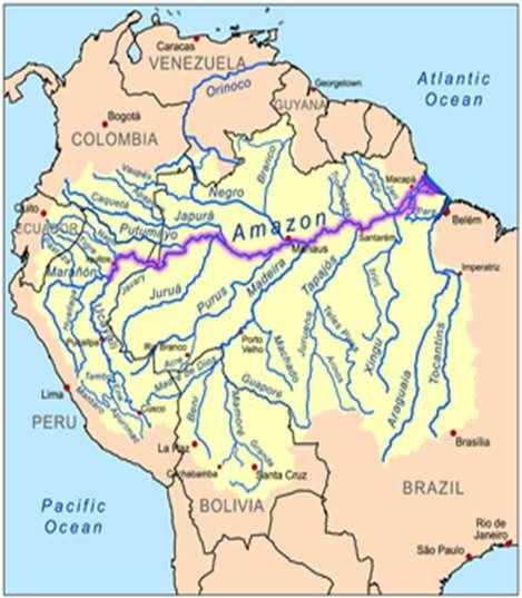 *Largest drainage basin in the world covering 1.2 billion acres (2.7 million sq. mi.).
