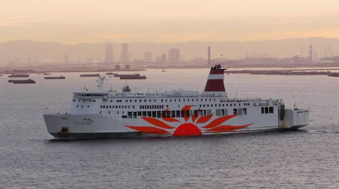 This vessel was originally the Japanese ferry Sun Flower Kogane owned by Kansai Kisen Kaisha (Mitsui OSK Lines group).