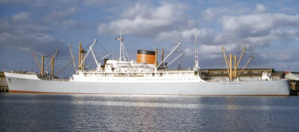 This cruise ship was originally the British reefer Port Melbourne of the Port Line (Cunard group) built for the United Kingdom Australia New Zealand service which implied an important space for
