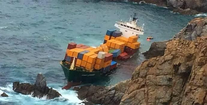 Container ship After grounding, scrapping nearby or far away?