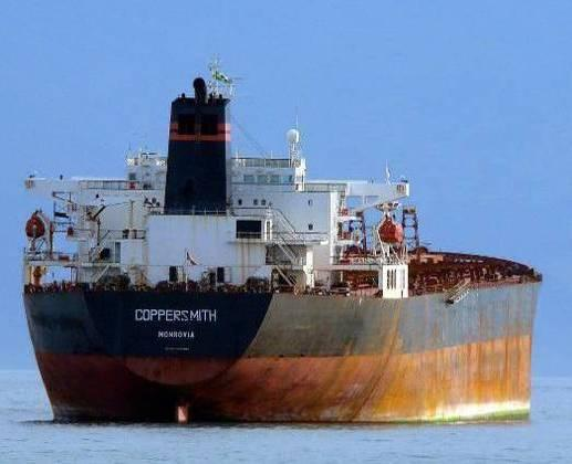 Sold for demolition in Bangladesh. 390 $ per ton. Coppersmith (ex-anella, ex-cic Hope, ex-farenco). IMO 9056260. Bulk carrier. Length 270 m, 22,541 t. Liberian flag.